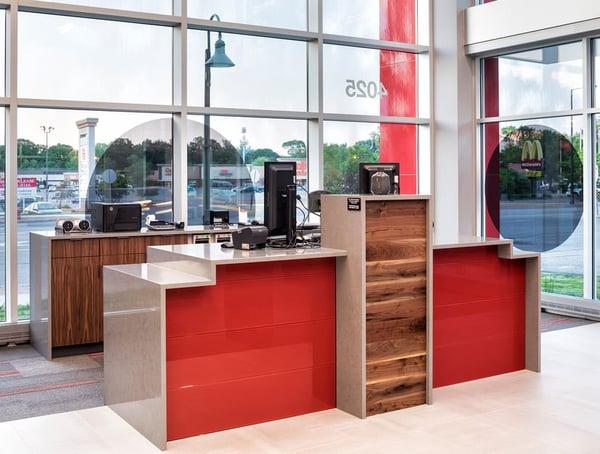 Photo of bank teller area
