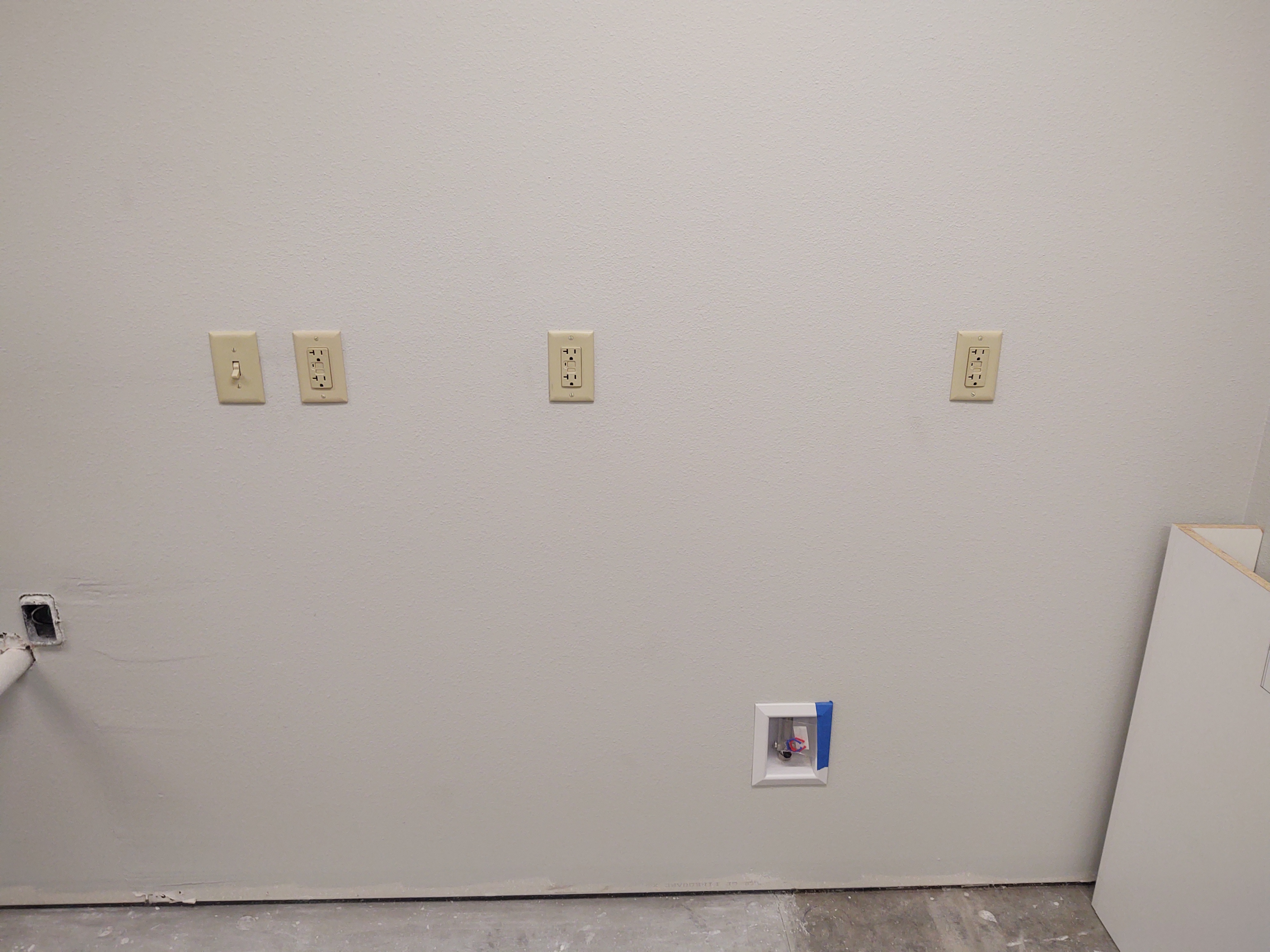 construction photo of outlets