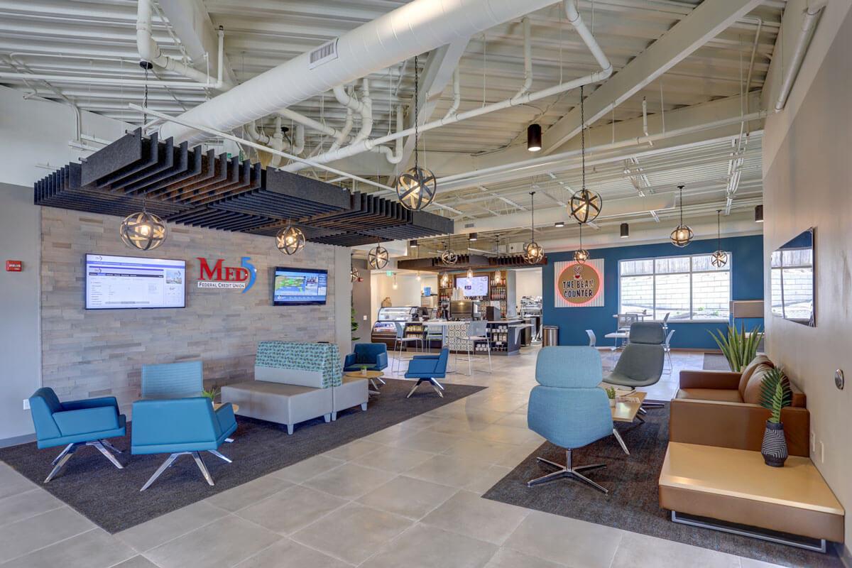 Interior design of a bank