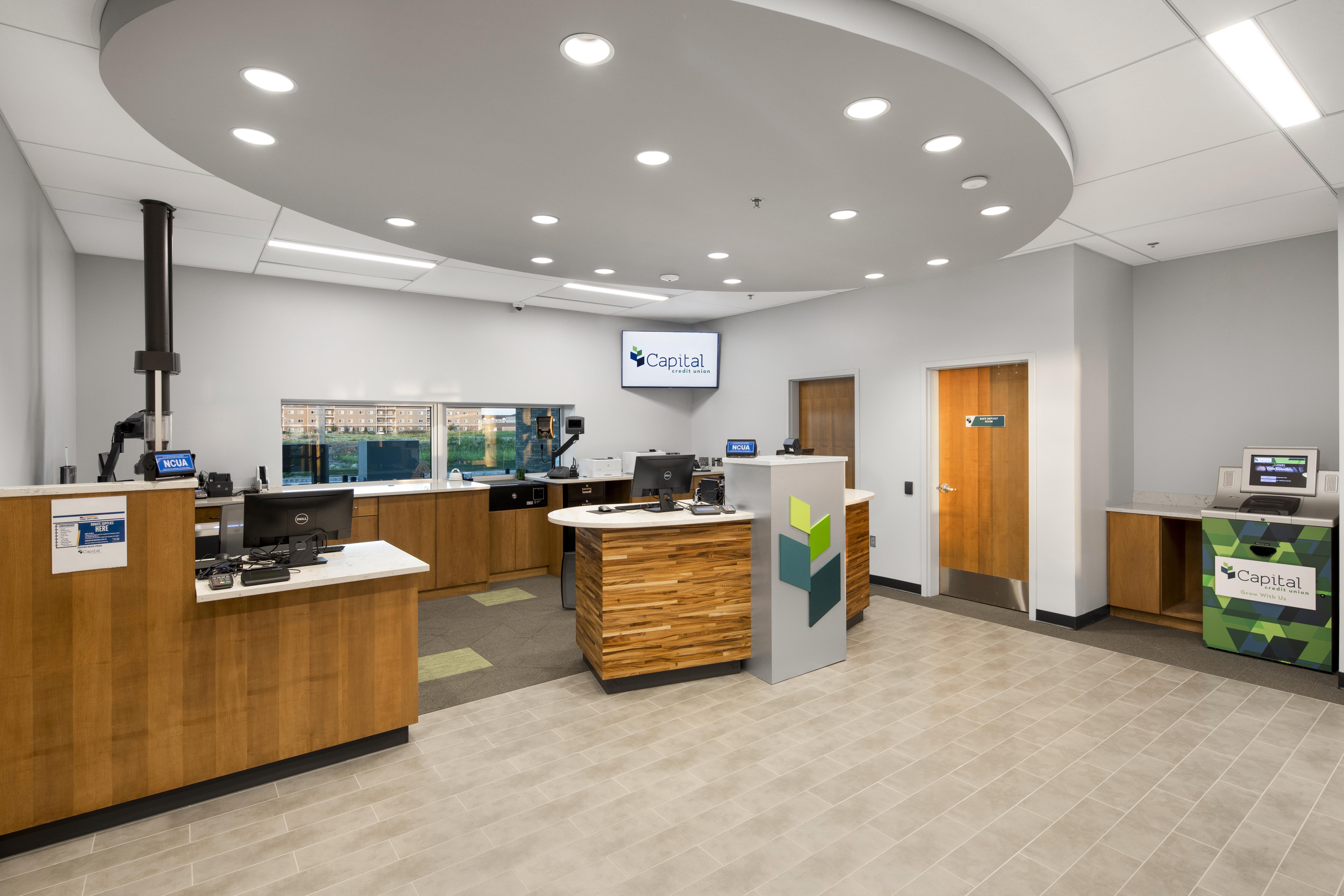Capital Credit Union, Teller Stations