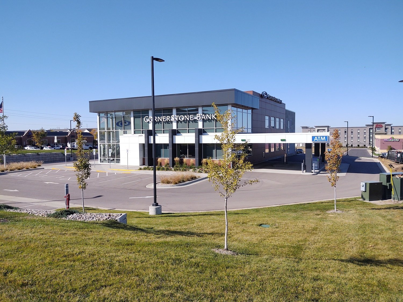 CornerStone Bank Rear View Drive Through & Parking Lot