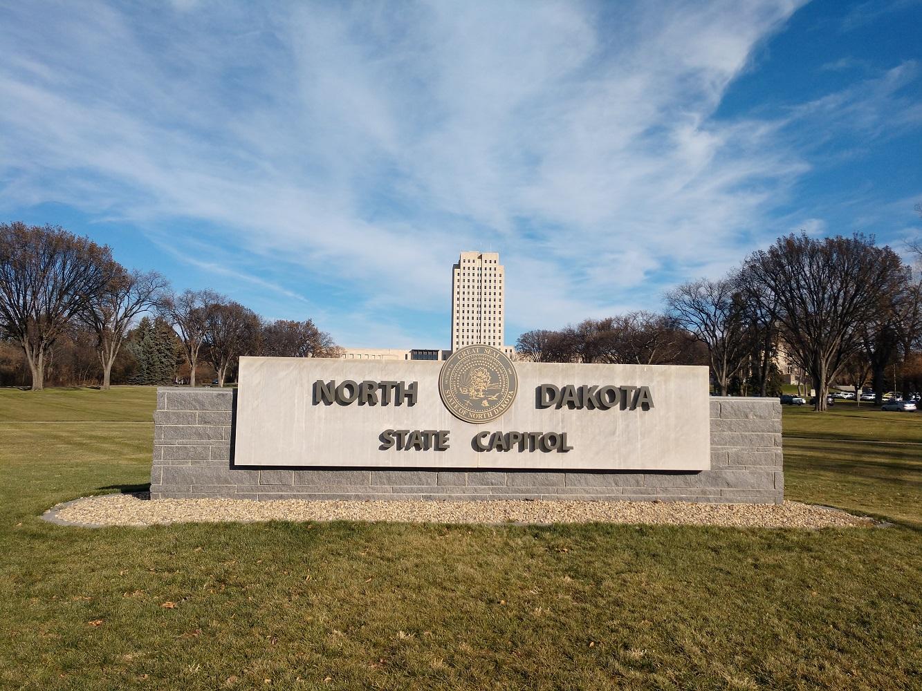 North Dakota State Capital, Signage Front