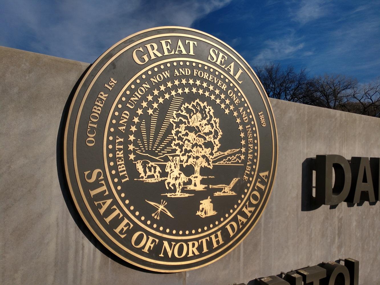 North Dakota State Capital, Signage Seal