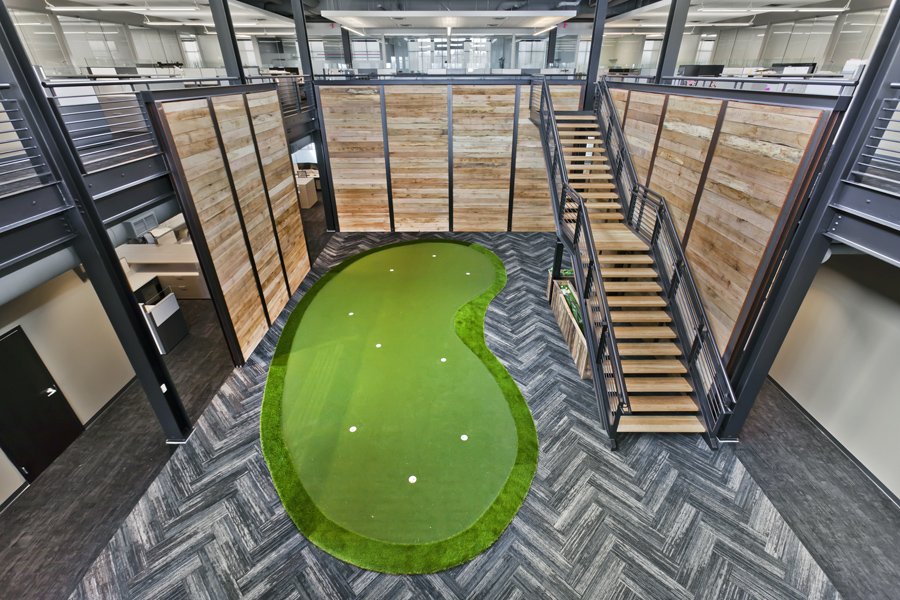 Rachel Contracting, Indoor Golf Green