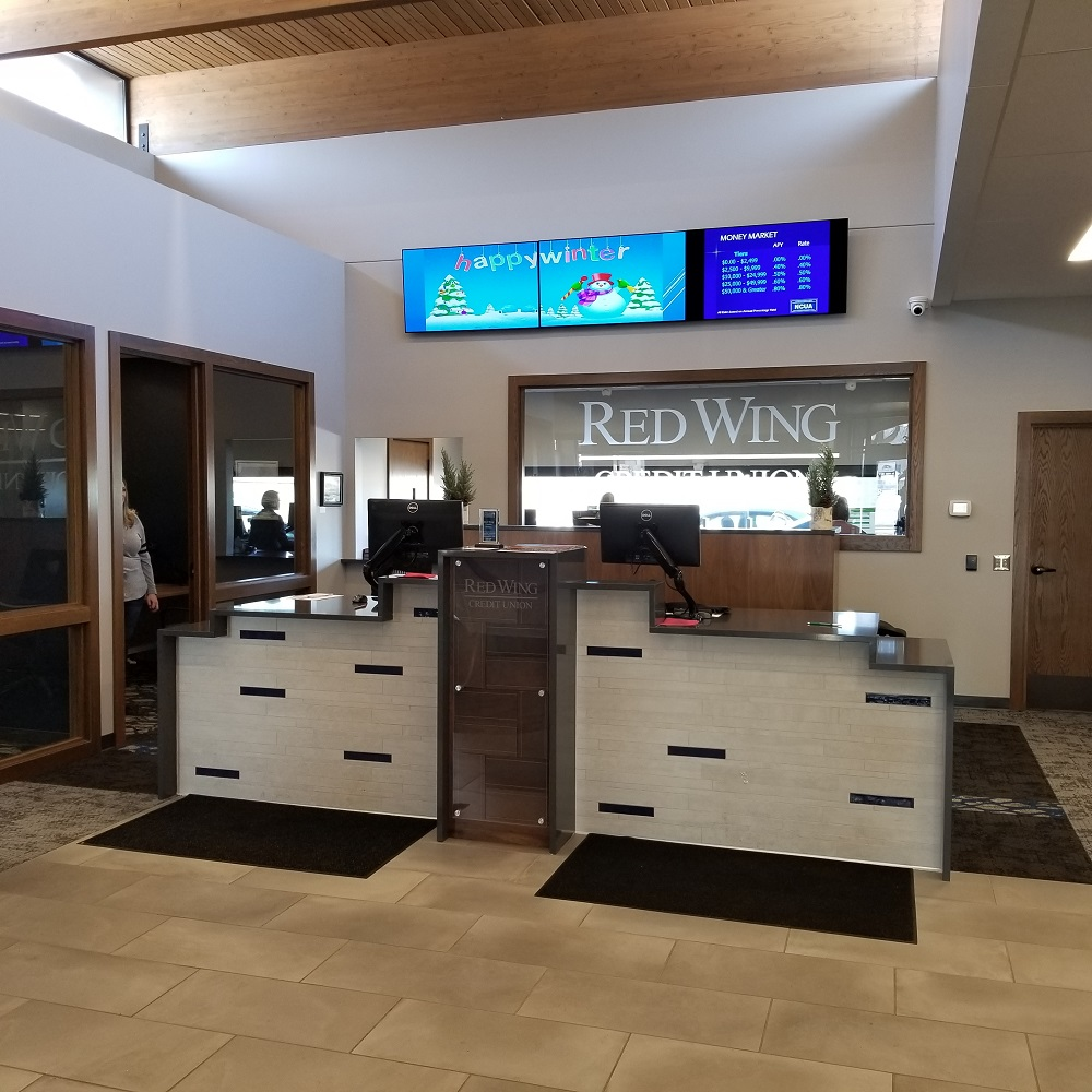 Red Wing Credit Union Teller Stations